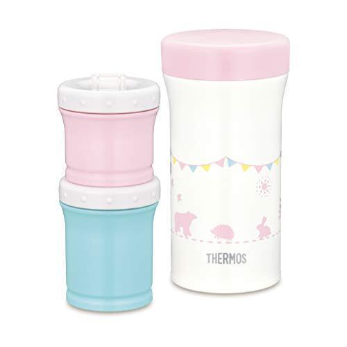 サーモス(THERMOS) まほうびんの離乳食ケース JBW-240 ピンク 1個 (x 1),離乳食,持ち運び,