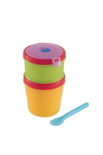 リッチェル Richell おでかけランチくん 赤ちゃんのクールお弁当箱 スプーン付 二段タイプ 保冷材付,離乳食,持ち運び,