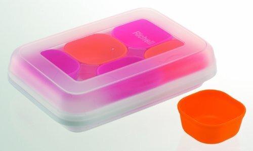 リッチェル Richell 調理用品 わけわけフリージング カップ25 1カップ容量/25ml カップ6コ入 ピンク&オレンジ,離乳食,準備,