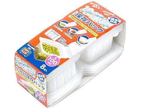 ストリックスデザイン 冷凍用 小分け 保存パック 日本製 Sサイズ 8枚 半透明 100ml 保存容器 電子レンジ対応 目盛り付き 積み重ね可 ご飯 おかず 離乳食 HT-130,離乳食,準備,