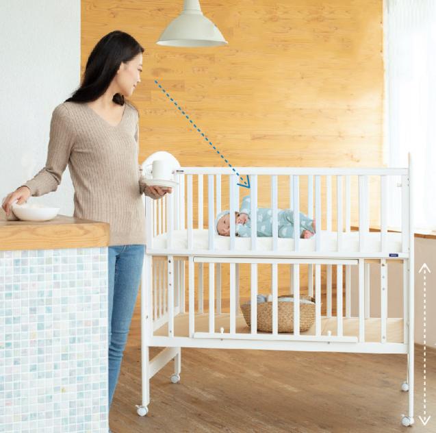 お世話が楽,ベビーベッド,出産準備,赤ちゃん