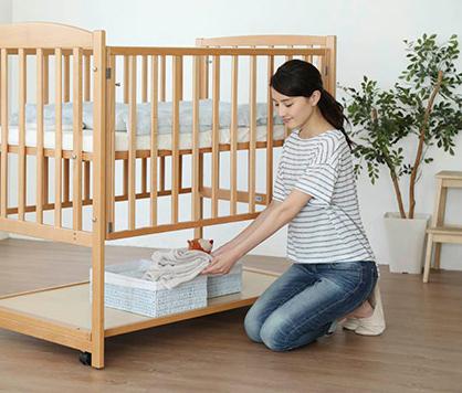 収納スペース,ベビーベッド,出産準備,赤ちゃん