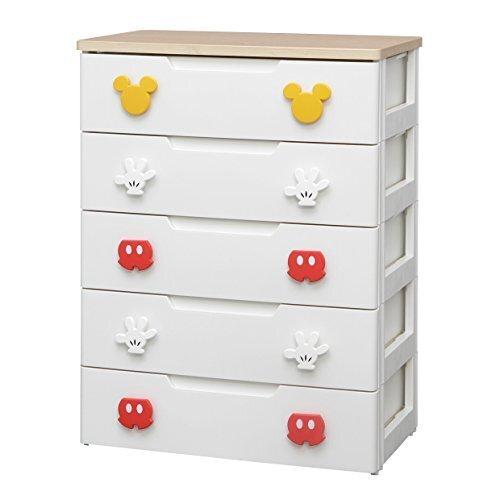 アイリスオーヤマ ディズニー ミッキー チェスト 収納ボックス 収納チェスト 棚 子ども用チェスト 5段 完成品 日本製 幅73cm MHG2-725,