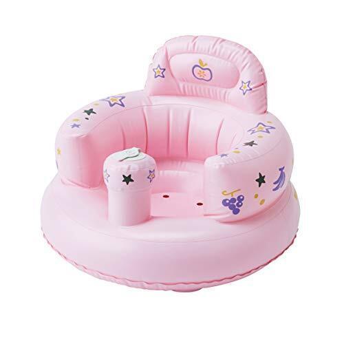 Smart Start 腰がすわってから使えるバスチェア バスソファ ポンプアップ ヘッドレスト付き ピンク,バスチェア,赤ちゃん,おすすめ