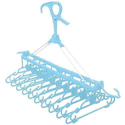 アイリスプラザ ベビーハンガー 10連 子供用ハンガー 洗濯 キッズ ハンガー 折りたたみ ブルー,ベビーケアグッズ,基礎知識,選び方