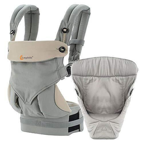 エルゴベビー ergobaby FOUR POSITION 360 スリーシックスティ BABY CARRIER インファント インサート付き ベビーキャリア 抱っこ紐 BCIIAGRYV3 GREY グレー,新生児,抱っこひも,