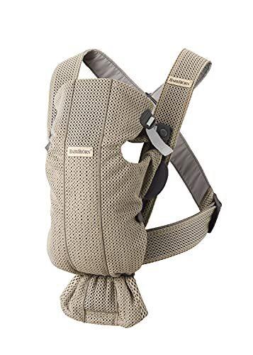 ベビービョルン 抱っこひも【日本正規品保証付】ベビーキャリア MINI Air グレーベージュ (スタイ付き),新生児,抱っこひも,