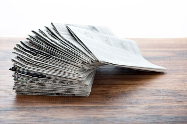 新聞紙は使えます,防災グッズ,赤ちゃん,備え