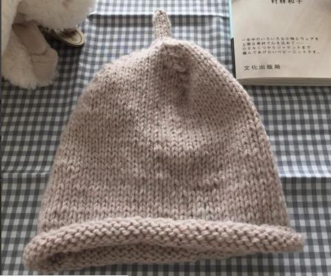 ニット帽 表編み 裏編み,ベビー,ニット帽,編み方