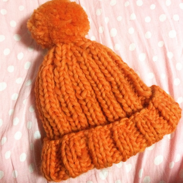 ゴム編み ニット帽,ベビー,ニット帽,編み方
