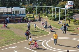 辻堂海浜公園のプール以外で特に人気の高い交通公園の画像
