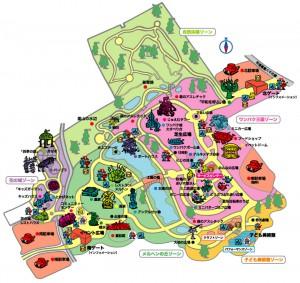 ふなばしアンデルセン公園の地図