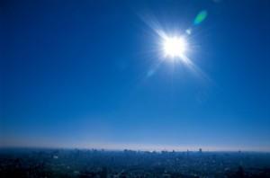 池袋のサンシャインシティにある超高層の展望台から望む景色の画像