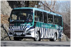 多摩動物公園内のシャトルバス