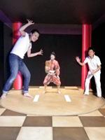 美術館「東京トリックアート迷宮館」の大相撲の展示