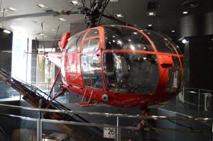 消防博物館のヘリコプター