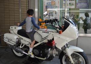 警察博物館のオートバイ