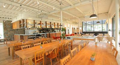 東京豊洲にある屋内型バーベキュースポットのカフェハウスの画像