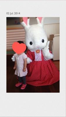 ショコラウサギちゃんと写真が撮れます