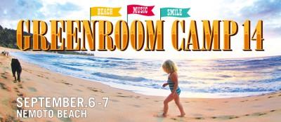 海沿いで音楽を堪能できるGreenroom camp14のポスター画像