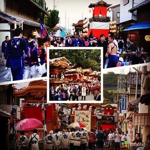 東京の各地で開催されたお祭りのスナップショットの画像