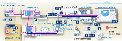 子どもに人気の新江ノ島水族館には子連れに優しい設備が充実したサービスマップの画像