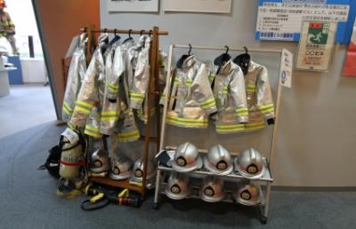 横須賀市民防災センターの子ども用消防服