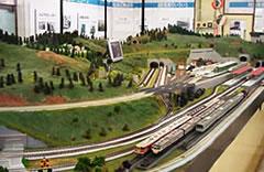 青梅鉄道公園の模型のジオラマ