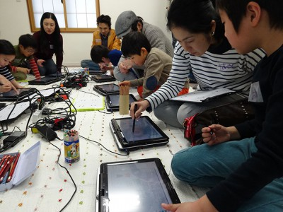 キッズ向けプログラミング教室講習の様子