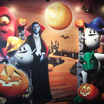 ハロウィンイベント2014のイクスピアリ街内のフォトコーナー画像