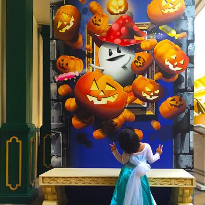 ハロウィンイベント2014の街内のフォトコーナ画像
