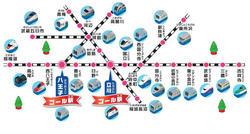 プラレールスタンプラリーのイベント開催のマップ画像