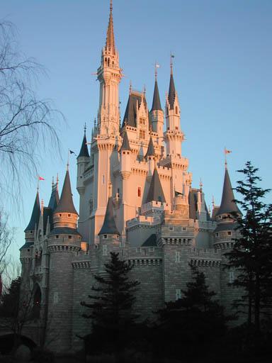 ディズニーハロウィン2014・TDLシンボルのシンデレラ城の画像