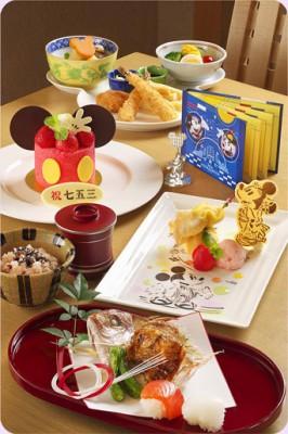 ディズニーオフィシャルホテルの七五三のお祝いのイメージ画像
