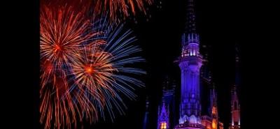 ディズニーハロウィン2014・シンデレラ城と花火の画像