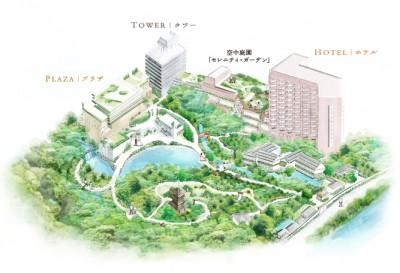 椿山荘の全景マップの画像