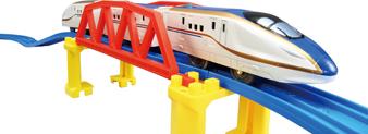 プラレールのイベントに登場する最新型新幹線車両の画像