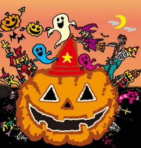 ハロウィンイベントのかぼちゃのイラスト画像