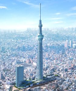 ハロウィンイベントが開催される東京スカイツリーの全景画像