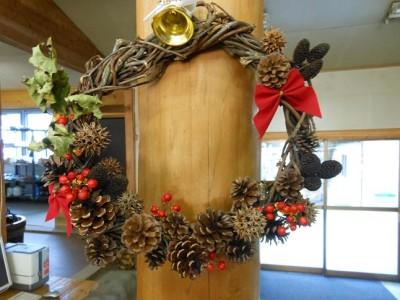 子どもと手作り体験教室、手作りクリスマスリース
