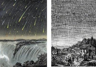 過去のしし座流星群の大出現を描いた絵画