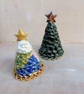 子どもと陶芸体験、手作りクリスマスツリー