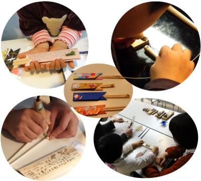 箸作りを親子で体験するイベントの画像
