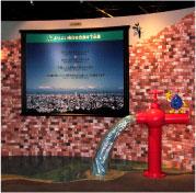 子連れで行ける公共施設、下水道の展示の画像