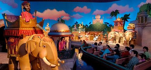 ディズニーシーの赤ちゃんと乗れる「シンドバッド・ストーリーブック・ヴォヤッジ」の画像