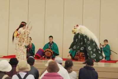 正月行事イベント豊富獅子舞の画像