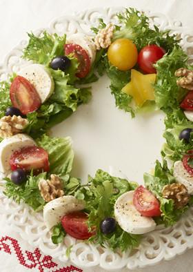 クリスマスのおもてなし料理にリースカプレーゼのレシピと画像