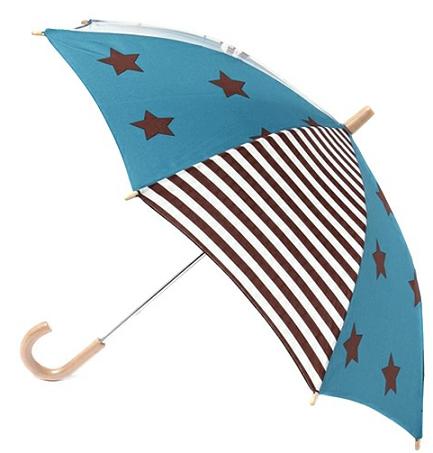 個性的、ファッション、星とボーダー柄の傘の画像