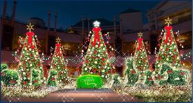 クリスマスイベントにイクスピアリのクリスマスツリーの画像
