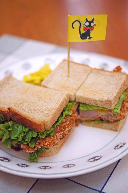 ジブリ美術館麦わらぼうしカフェサンドイッチの画像